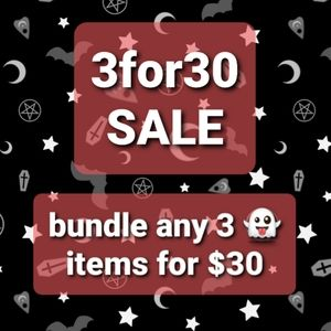 👻SALE!!👻 3FOR$30!! 3 DAYS ONLY!!